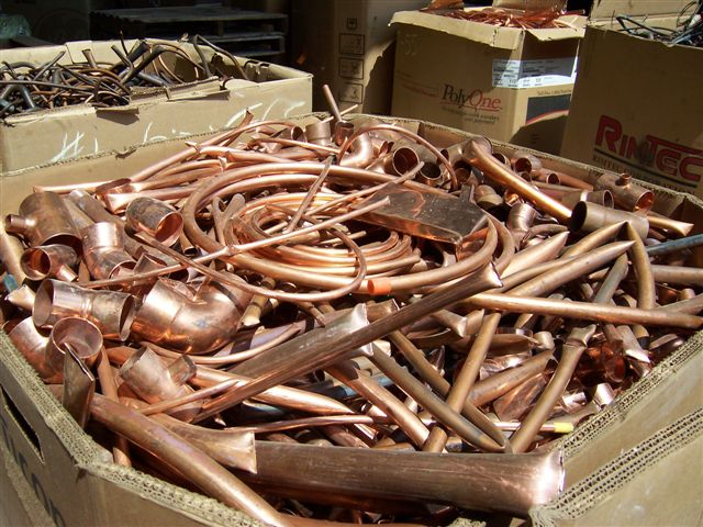 Scrap Copper -  if you have lots of this, we'll come and pick it up and pay for it.