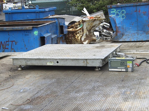 weigh on site scrap metal
